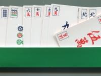 Риичи-маджонг карты - карты в подставке