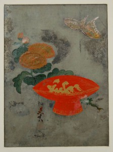 03 - Shibata Zeshin - sake-bowl-chrysanthemum-and-butterfly